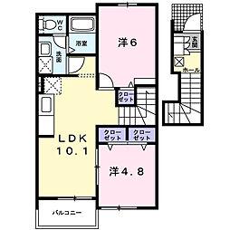 ファミーユ・K A[2階]の間取り