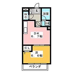 ライオンズマンション柳ヶ瀬[6階]の間取り