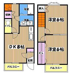 東京都西多摩郡日の出町大字平井の賃貸アパートの間取り