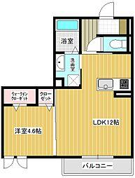 (仮称)平泉東3丁目マンションA棟 2階1LDKの間取り