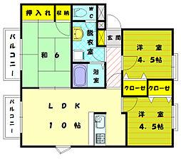 フォレスト和白[2階]の間取り