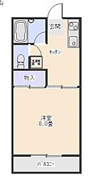 レジデンスケイ[2階]の間取り