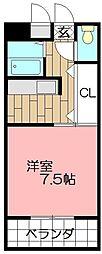 ピュアシティ小倉[502号室]の間取り