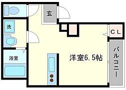 フォルモント新大阪[2階]の間取り