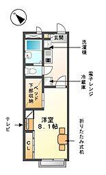 レオパレスエトワール清須[2階]の間取り