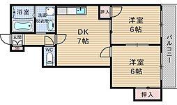 ライフステージヨシダ[5階]の間取り