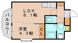 ジョワアバンセ[2階]の間取り