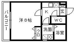 クレフラスト浜松駅南[102号室]の間取り