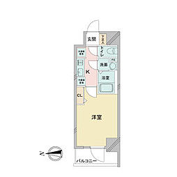 アステリ鶴舞ディオ 9階1Kの間取り