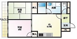 野田シャトルマンション A棟[304号室]の間取り