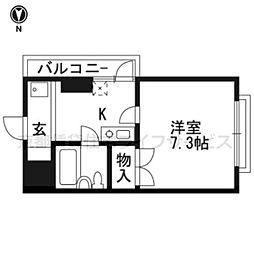 SKBマンション[201号室]の間取り