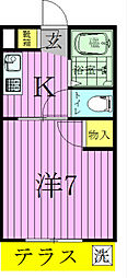 ペガサスマンション[1階]の間取り