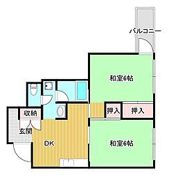大阪府大阪市西区千代崎2丁目の賃貸マンションの間取り