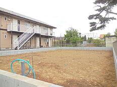 敷地面積広々50坪以上。二世帯住宅も可能な広さ。