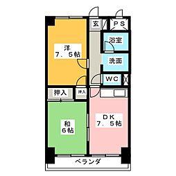 コスモハイム七番町[11階]の間取り