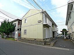 埼玉県越谷市七左町1丁目の賃貸アパートの外観