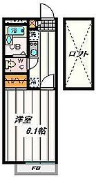 埼玉県さいたま市岩槻区東岩槻6丁目の賃貸アパートの間取り