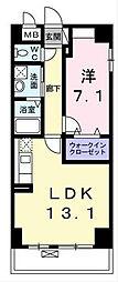 神奈川県横浜市南区浦舟町1丁目の賃貸マンションの間取り