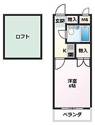 サウンドール加古川[2階]の間取り