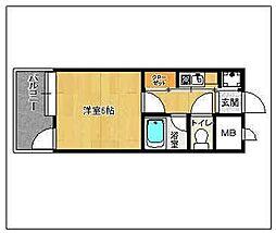 ピュアドーム大濠アクレーム[203号室]の間取り