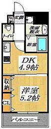 セントアミー鶴見[4階]の間取り
