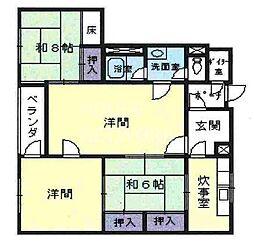 下加茂ハウス[1-E号室号室]の間取り