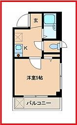 東京都葛飾区東金町1の賃貸マンションの間取り