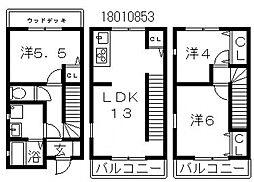 新築テラスハウス[1階]の間取り