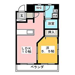 セントラルハイツ カシノ[5階]の間取り