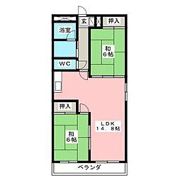 コーポ小松島[1階]の間取り