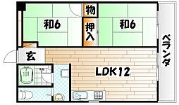 原田ビル[7階]の間取り
