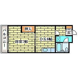 真栄ビル[4階]の間取り