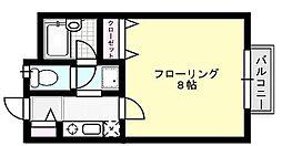 シャルム中村[102号室]の間取り