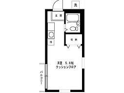 コーポ三愛[2階]の間取り