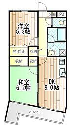 神奈川県相模原市南区上鶴間4丁目の賃貸マンションの間取り
