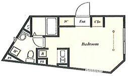 グランパークス本郷 2階ワンルームの間取り