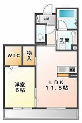 Crescent小松[2階]の間取り