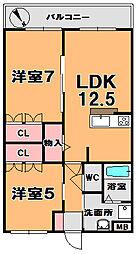 レーヴェンAZUKI[3階]の間取り