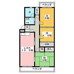 エミネンス山田[4階]の間取り