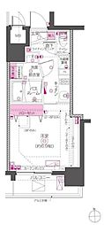 JR山手線 秋葉原駅 徒歩6分の賃貸マンション 2階1Kの間取り