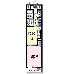 サルドゥセジュール[2階]の間取り