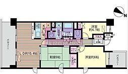 横浜高砂パークハウス[9階]の間取り