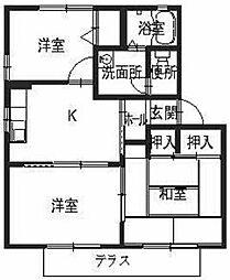 シャルマン藤井[1階]の間取り