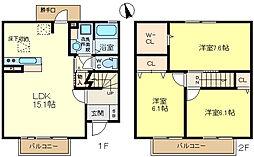 [テラスハウス] 兵庫県神戸市垂水区舞多聞西7丁目 の賃貸【/】の間取り