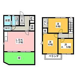 [テラスハウス] 岐阜県岐阜市本荘中ノ町7丁目 の賃貸【/】の間取り