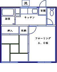 米田コーポ[102号室]の間取り