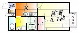 アンプルールmille[2階]の間取り