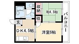 愛知県名古屋市南区桜台1丁目の賃貸アパートの間取り