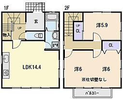 [一戸建] 三重県松阪市高町 の賃貸【/】の間取り