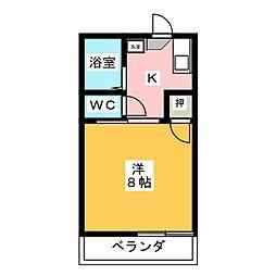 ハミング弘栄A[1階]の間取り